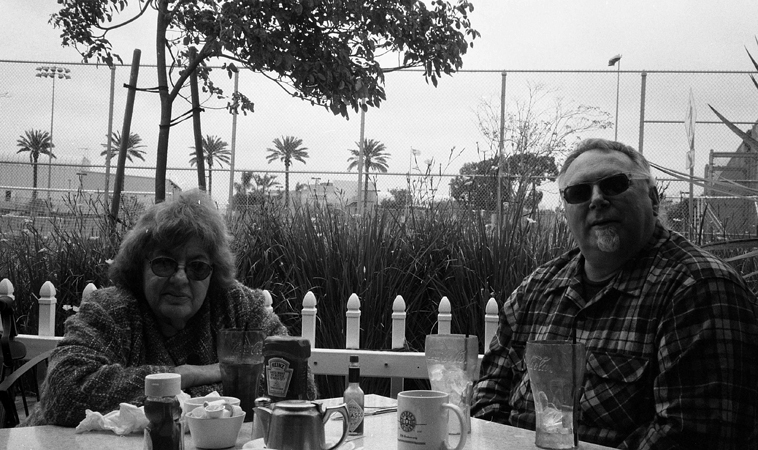 Dottie Grossman & Michael Vlatkovich at Spitfire Grill, Santa Monica Airport / April 30, 2012/ Photo by Mark Weber